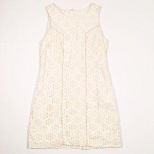 Anthropologie Burlapp cream lace mini dress medium